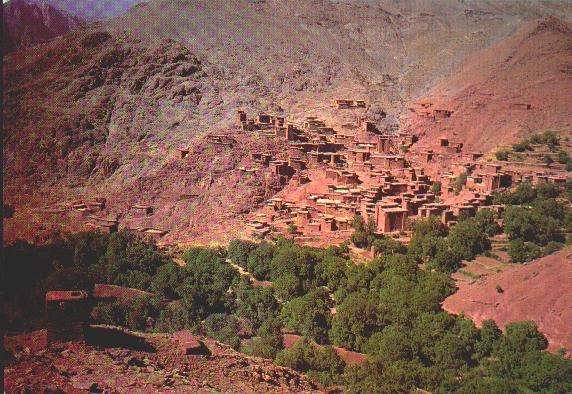 loamy village in the high atlas