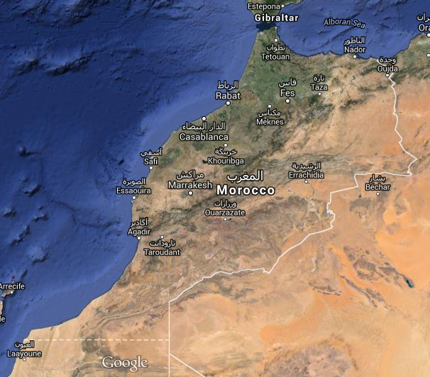 plan Morocco by satellite